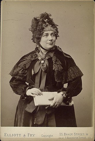 Georgina Weldon - Mrs Georgina Weldon photographed by Elliott & Fry (c.1884)
