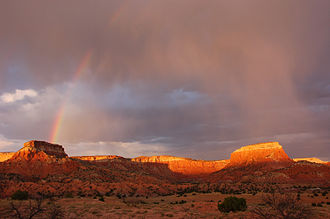 Rio Arriba County, New Mexico - Ghost Ranch rainbow