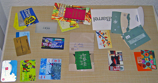Gift card assortment