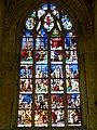 Gisors (27), collégiale St-Gervais-et-St-Protais, collatéral nord, verrière n° 23 - vie des saints Crépin et Crépinien 1.jpg