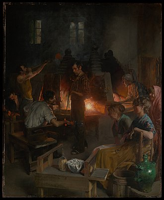 Charles Frederic Ulrich - Image: Glass Blowers of Murano MET DP 600 001