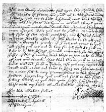 Facsimile copy of the orders to Campbell regarding the massacre