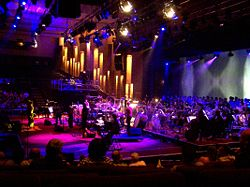 The world premiere of Globus at The Grand Hall, Wembley, London. It was the last concert held at this location.