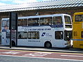 Go North East 3866 Dennis Trident East Lancs Lolyne W866 PNL DFDS ferry bus livery in Newcastle 9 May 2009 pic 1.jpg