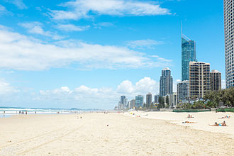 Surfers Paradise, Queensland - Surfers Paradise beach, January 2015