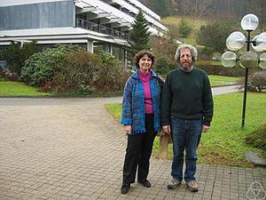 Catherine Goldstein - Catherine Goldstein and Jim Ritter, Oberwolfach 2005