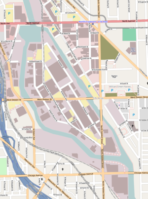 Goose Island (Chicago) - Image: Goose Island Chicago Open Street Map