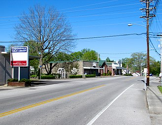 Gordonsville, Tennessee - Main Street in Gordonsville