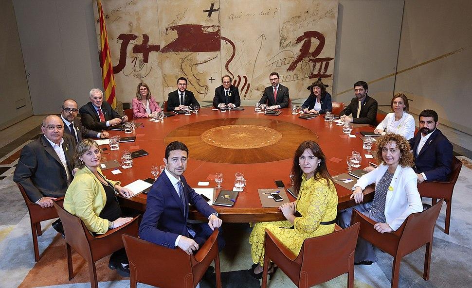 Govern de Catalunya primera reunió 2018