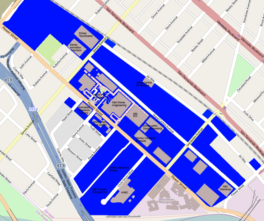 Grand Central Creative Campus map