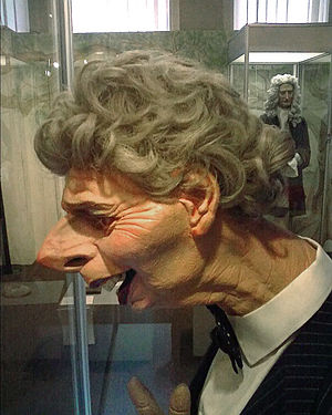 Spitting Image - Puppet of Margaret Thatcher on display in Grantham Museum