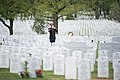 Graveside service for U.S. Army Air Forces 2nd Lt. Marvin B. Rothman at Arlington National Cemetery (34282445715).jpg