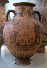Belly amphora by the Nessos Painter