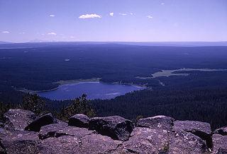 Grebe Lake lake in Park County, Wyoming, USA