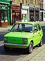 Green Fiat 126 in London.jpg
