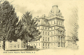 Greystone Park Psychiatric Hospital - Greystone as seen in a postcard from 1923