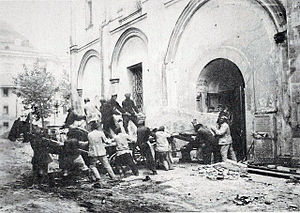 Sophia Palaiologina - Destruction of Sophia Palaiologina grave in 1929.