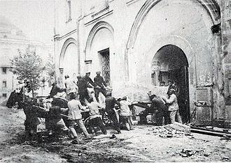 Sophia Palaiologina - Destruction of Sophia Palaiologina grave in 1929.