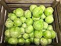 Grocery store Tønsberg Norway cabbage hodekål i trekasse 2017-09-20 03.jpg