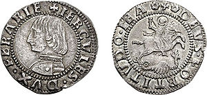 Ercole I d'Este, Duke of Ferrara - Grosh issued under Ercole I d'Este.
