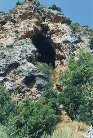 Kadisha Valley - One of the caves in the Qadisha Valley.