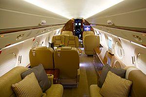 Gulfstream G550 - G550 cabin