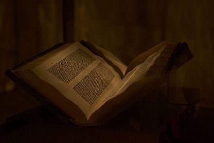 Original Gutenberg Bible Cover
