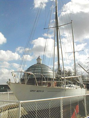 Gipsy Moth IV - The Gipsy Moth IV on display in Greenwich, England.