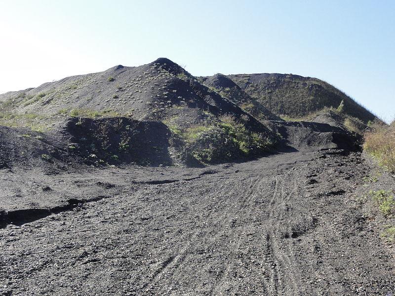 Terril n° 101 dit Lavoir de Drocourt, Lavoir de Drocourt du Groupe d'Hénin-Liétard dans le bassin minier du Nord-Pas-de-Calais, Hénin-Beaumont, Pas-de-Calais, Nord-Pas-de-Calais, France. Le terril no 101 est inscrit sur la liste du patrimoine mondial de l'Unesco le 30 juin 2012 et y constitue en partie le site no 48.