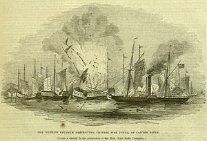 Nemesis (1839) - The Illustrated London News print of Nemesis during the First Opium War