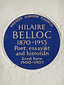 HILAIRE BELLOC 1870-1953 Poet essayist and historian lived here 1900-1905.jpg