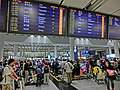 HK Airport Arrival area zone interior luggage belt information display monitors n visitors 13-Feb-2013.JPG