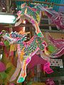 HK SYP Queen's Road West Mid-Autumn Festival Lanterns 02 麒麟 Qilin.JPG