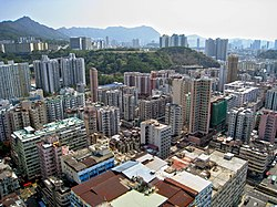 Day view of the Sham Shui Po District skyline