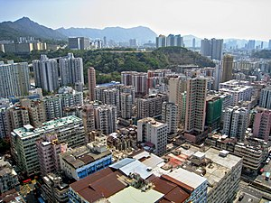 Sham Shui Po District - Day view of the Sham Shui Po District skyline