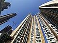 HK TKL 調景嶺 Tiu Keng Leng 彩明街 Choi Ming Street 彩明苑 Choi Ming Court facade blue sky November 2019 SS2 01.jpg
