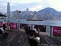HK Wine & Dine 香港美酒佳餚巡禮 West Kln Waterfront Promenade Sitting oujt area view Central IFC Nov-2012.JPG