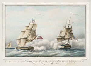 Richard Saunders Dundas - The fifth-rate HMS ''Belvidera'' (left) which Dundas commanded