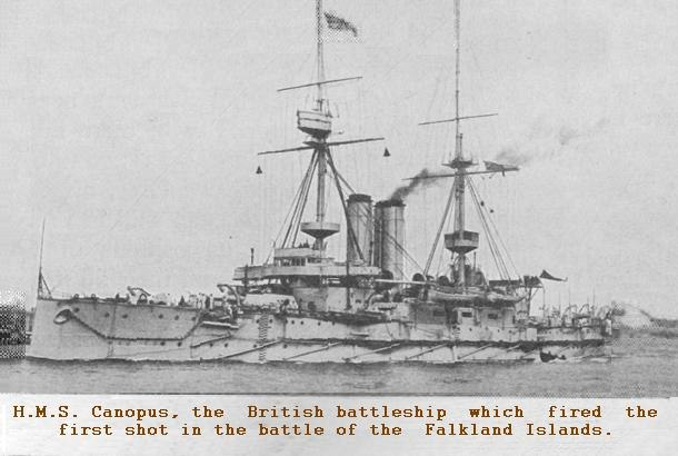 HMS Canopus news mimic