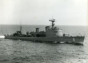 HMS Stockholm starboard side.