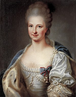 Amalie of Zweibrücken-Birkenfeld - Amalie as a bride, 1769