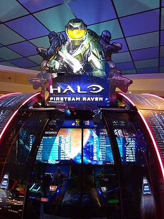 Halo (franchise) - A Fireteam Raven arcade booth in Edinburgh, UK.
