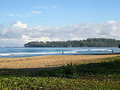 Hanalei Bay from Wai'oli Beach Park.JPG
