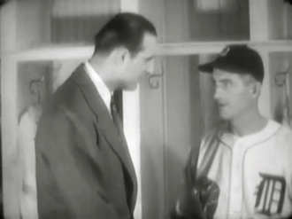 Del Baker - Baker meets with Hank Greenberg in 1941 before Greenberg departs for World War II.