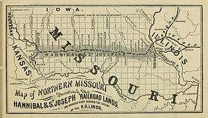 Hannibal and St. Joseph Railroad, 1860.jpg