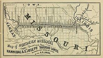 Hannibal and St. Joseph Railroad - Image: Hannibal and St. Joseph Railroad, 1860