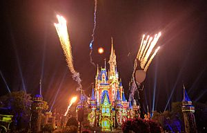 Happily Ever After (Magic Kingdom) - Image: Happily Ever After May 16, 2017 (34585800621) (cropped)