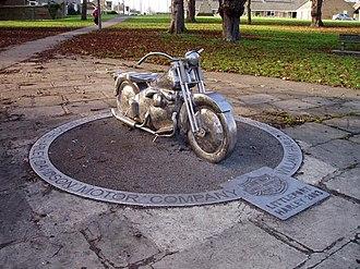 Littleport, Cambridgeshire - Image: Harley Davidson monument, Littleport geograph.org.uk 112545