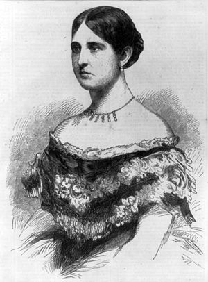 Philip Barton Key II - Harper's Weekly engraving of Mrs. Sickles from a photograph of Mathew Brady