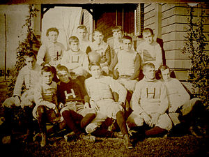 John A. Denison - John A. Denison as a member of the Harvard Football Team c.1897